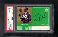 1998 SP Authentic #RM RANDY MOSS RC Player's Ink Autograph PSA 10 Gem Mint