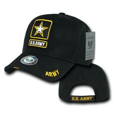 Black United States Army Star US Military Embroidered Baseball Cap Hat Caps Hats