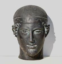 Buste reproduction en résine Tête l'Aurige de Delphes moulage mussée du Louvre