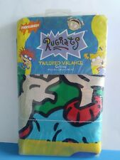 """Vintage Nickelodeon Rugrats Tailored Valance Curtain 84""""x15"""" Nos New"""