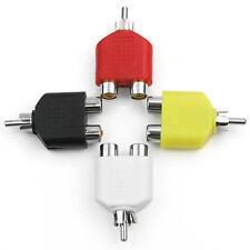 4x RCA  Splitter AV Audio Video Plug Converter 1Male to 2Female Cable Adapter KY