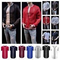 Men Baseball Jersey Plain Raglan T- Shirt Sports Active Hipster Jersey & Jacket