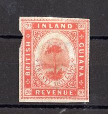 BRITISH GUIANA QV 20 $ INLAND REVENUE Imperforé X8100