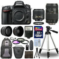 Nikon D610 Digital SLR Camera + 4 Lens Kit: 18-55mm VR + 70-300 mm + 32GB Kit