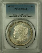 1878-S Morgan Silver Dollar $1 Coin PCGS MS-64 Semi PL Obverse Toned Rev. (20)