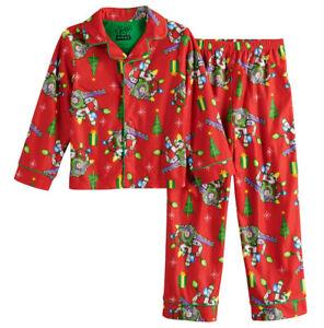 Toy Story Christmas Pajamas 2 Piece Holiday Buzz Lightyear 4 6 8 Disney Pixar