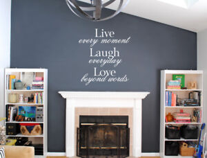 Live laugh love wall quote decal | wall quote sticker | Inspirational wall quote