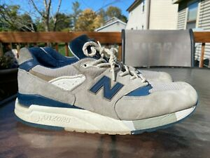 New Balance 998 Men's Suede Shoes Explore By The Sea Gray Navy Size 10.5