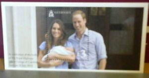 2013 Guernsey Birth of Prince George Mini Sheet Mint