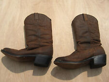 Durango Cowboy Boots Tan Brown Crumpled Distressed Western SW542 Men's Sz 7 D