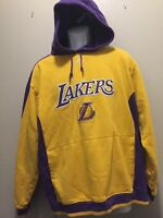 Adidas Los Angeles Lakers VTG Yellow/Purple Pullover Hoodie Men's Large L