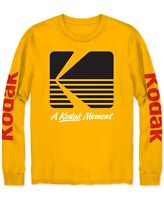 Kodak Men's T-Shirt Gold Yellow Size Large L Logo Graphic Crewneck Tee $26 002