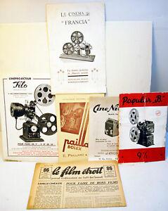 """lot de 5 notices de projecteurs """"COLLECTOR"""" - Circa années 1920/40  '"""