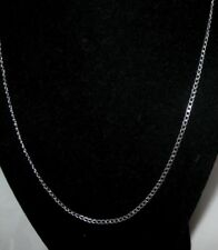 26 inch, 2.0mm  Solid   925 Sterling Silver 'Lay Flat Curb' chain  necklace