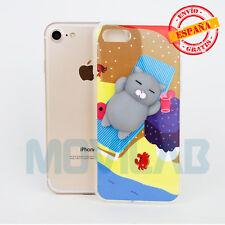 Funda Squishy gel / TPU Apple Iphone 7 / 8 de 4.7´ gato silicona 3D antiestres