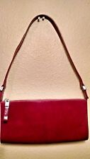 MONSAC ORIGINAL Red Leather Shoulder Bag Clutch Handbag