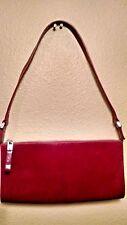 MONSAC ORIGINAL Red Leather Shoulder Bag Clutch Handbag