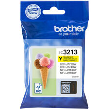 GENUINE AUTHENTIC BROTHER LC3213Y YELLOW INK CARTRIDGE
