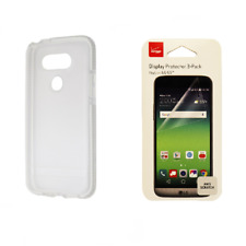 Tech21 Evo Check Clear/White Gel Case + Verizon Screen Protector Pack for LG G5