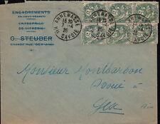 Lettre Annemasse Savoie Type Blanc Bloc de 6 Cover