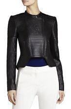 Bcbg Max Azria Conrad Faux Leather Moto Jacket M Black