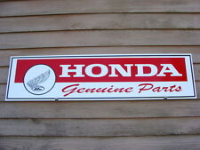 1970's HONDA  MOTORCYCLE DEALER/SERVICE SIGN/AD W/EARLY FEATHERED LOGO