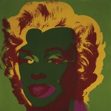 ANDY WARHOL - Marilyn Monroe, 1967 (on green) ART PRINT ** OUT OF PRINT LAST ONE