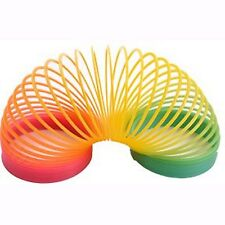 Large Rainbow Plastic Spring Toy - Slinky Type Strechy Springy Toy in Box