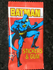 BATMAN 1989 Dandy Bubble Gum Trading Sticker Cards Sealed Pack Australia Vintage