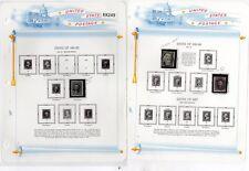 U. S. NICE EARLY #69 // #183 Mint & Used On Album Pages SCV. $775.00 (KK249)