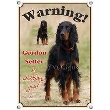 Dog Sign Gordon Setter - Warning