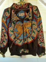 90's Vintage Women's Giacca Sport Jacket Large Multicolor Style Mosaic Griffin