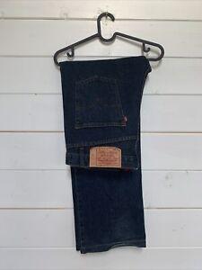 Levis 501 Regular Straight Denim Jeans Mens W36 L34 Dark Blue Wash