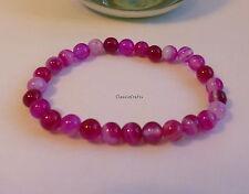 Certified Red purple natural agate 6mm beads  bracelet, gemstone bracelet