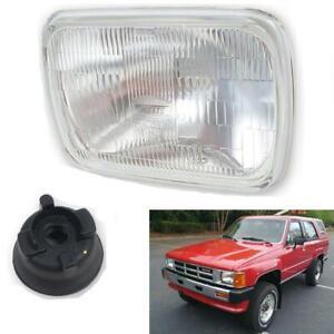 Head Light Lamp Halogen H4 Glass For Toyota Hilux 4Runner SR5 SUV 1984-1989