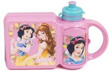 Brotdose & Trinkflasche Kindergarten Set KiTa Schule Disney Prinzessin