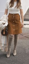 Gucci Suede Leather Brown Skirt RRP 3k
