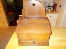 MIDDLE 1800S WALNUT PENNSYLVANIA HANGING SPICE BOX WITH LIFT TOP DRAWERS FOR SPI