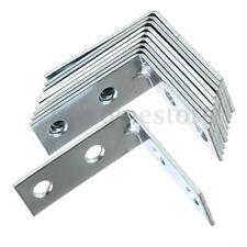 8pcs Corner Brace Angle Bracket Zinc Plated L Shape Kitchen Fixing DIY Building
