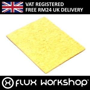 Solder Iron Sponge Yellow 51x32mm Rosin Soldering PCB Electronics Flux Workshop