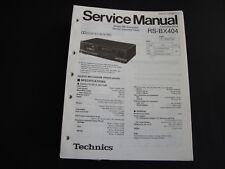 Original Service Manual Technics RS-BX404
