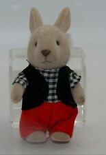 Vintage Sylvanian Families Fakie Forest Critters Grey Rabbit Brother Boy Bunny