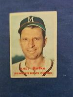 ANDY PAFKO 1957 TOPPS VINTAGE CARD #143 MILWAUKEE BRAVES