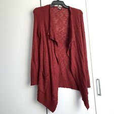 Womens Charlotte Russe Red Cascade Waterfall Open Knit Cardigan XS