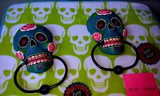 """Day Of The Dead Skull Door Knocker Great Colors """" Cool Cool """"  New"""