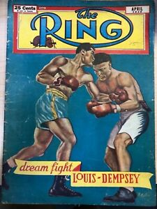 THE RING MAGAZINE APRIL 1949 LOUIS DEMPSEY DREAM FIGHT BOXING