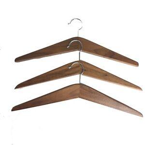 3 Vintage Danish Walnut Mid Century Modern Hangers