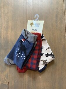 NWT Tucker + Tate Toddler Boy's Holiday Socks Pack of 3 Size: 9- 2.5