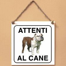 Old English Bulldog 1 Attenti al cane Targa cane cartello ceramic tiles