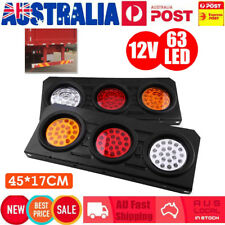 12V 63 LED TAIL LIGHTS CAR TRUCK UTE TRAILER STOP INDICATOR LAMP PAIR 12 VOLT AU